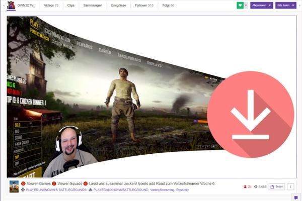 Como salvar transmissões/vídeos da Twitch.
